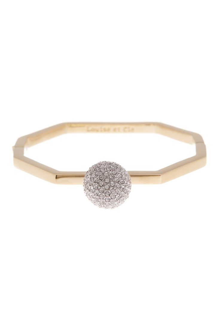 Need this Louise et Cie Jewelry Crystal Pave Hinge Bracelet