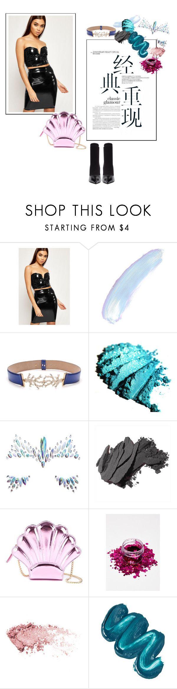 """Modern Mermaid Halloween Costume"" by wearall ❤ liked on Polyvore featuring WearAll, Blumarine, The Gypsy Shrine, Bobbi Brown Cosmetics, Yazbukey, Mermaid Salon, Balenciaga and modern"