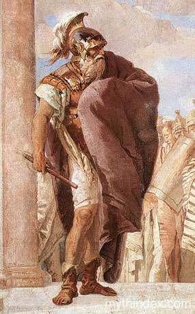 Agamemnon was a King who fought in Troy with Odysseus, he was killed when he arrived back home by his wife's affair. He meet Odysseus at the Underworld, were he helped Odysseus by giving Instructions to him on how to face or prevent some problems in his journey ack home.