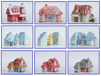 3d house paper model with calendar free papercraft templates papercraft pinterest
