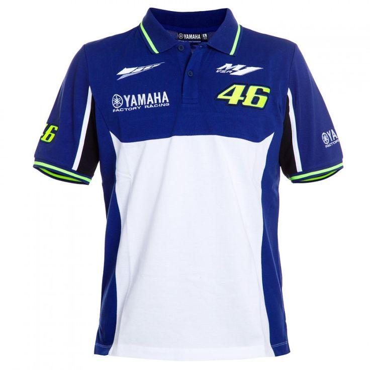 Yamaha çift polo gömlek için valentino rossi vr46 m1 yarış takım moto gp motosiklet 46 t-shirt
