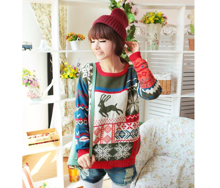 Sweater With Deer pullover women Sweaters And Pullovers Gilet Femme Manche Longue Sueter Mujer Cashmere Sweater. Click visit to buy