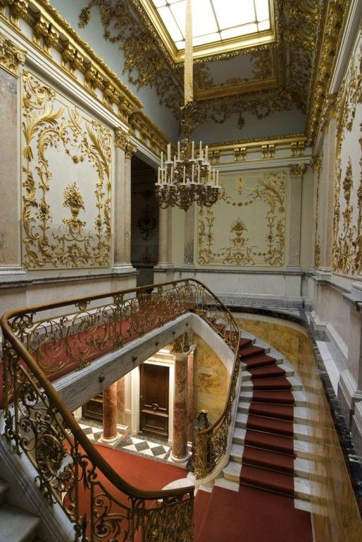 Linderhof Palace - interior for second novel, a sweeping staircase x