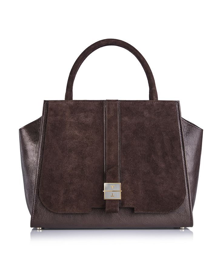 MELIA goat leather handbag in Winter Grapes Brown by TANCHEL