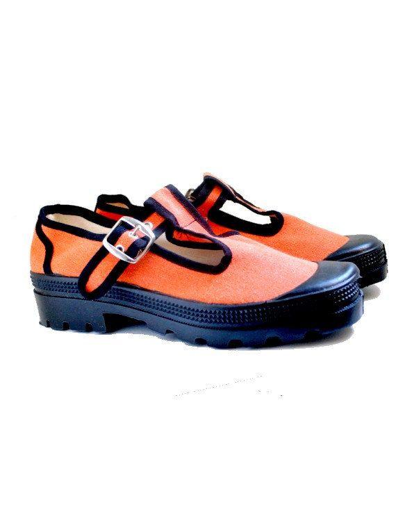90s CHUNKY orange sneakers US7.5 fr39 uk 5.5