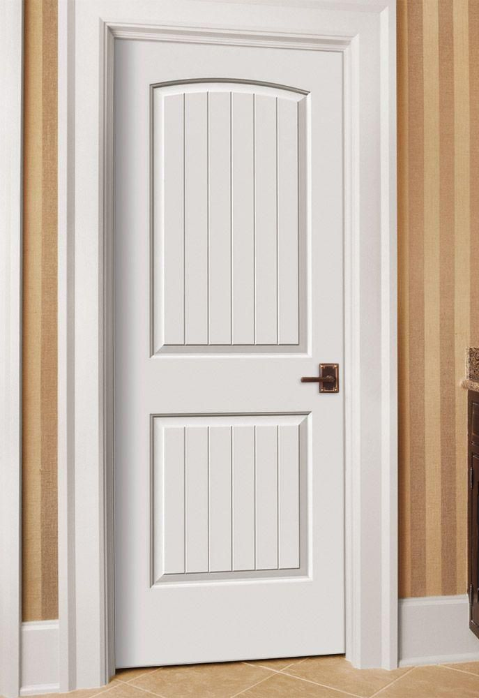 211 Jeld Wen 30 X 80 Santa Fe White Painted Left Hand Smooth Solid Core Molded Composite Mdf Single Prehun Prehung Interior Doors Doors Interior White Doors