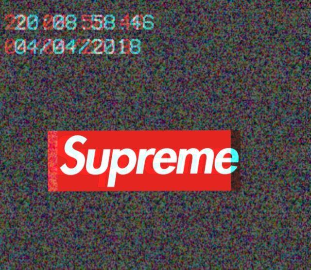 #supreme #glitch #red #tumblr
