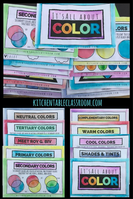 Free Printable Color Theory Book For Kids Homeschool Giveaways