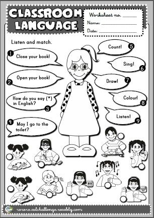 Classroom Language - worksheets
