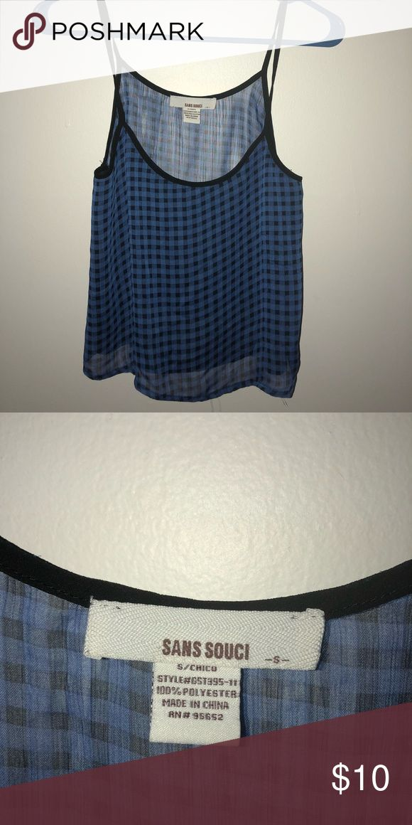 Plaid see through crop! Plaid see through tank top! Size small. Crop Top! Looks awesome with a bralette and black jeans (: Sans Souci Tops Blouses