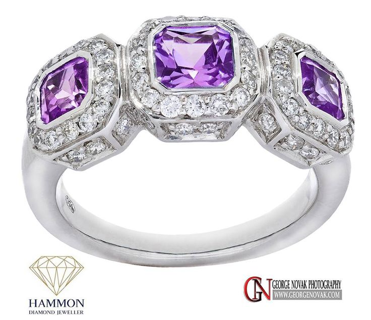 Our exquisite Tanzanite & diamond dress ring.  Diamonds at any angle.