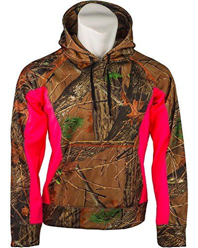 Trail Crest Womens Camo Softshell Hoodie Pink Large -- Want additional info? Click on the image.