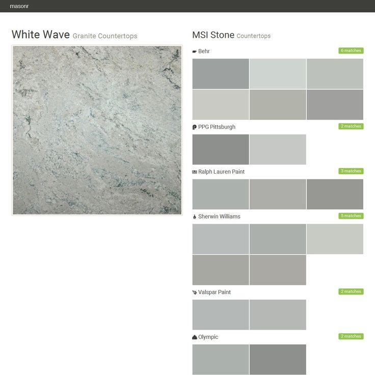 White Wave. Granite Countertops. Countertops. MSI Stone. Behr. PPG  Pittsburgh.
