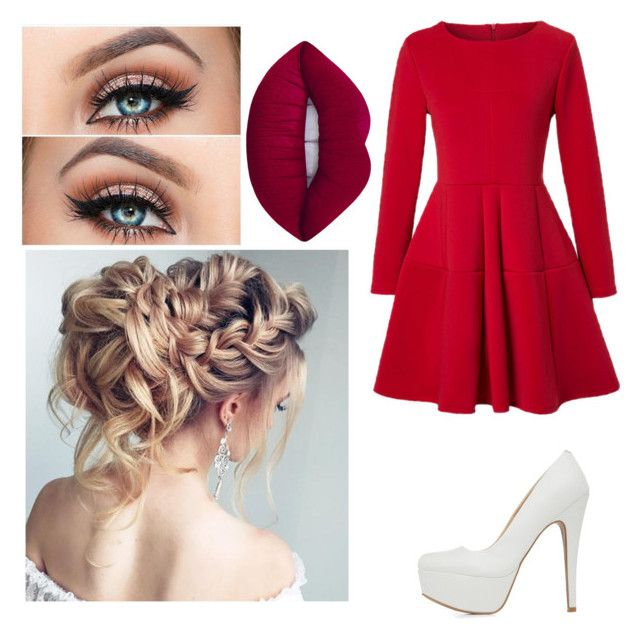 """""""Untitled #38"""" by valentina-carvajal92005 on Polyvore featuring WithChic, Qupid and Lime Crime"""