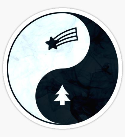 Pegatina Gravity Falls Yin Yang – #Falls #Gravity #Pegatina #Yang #Yin