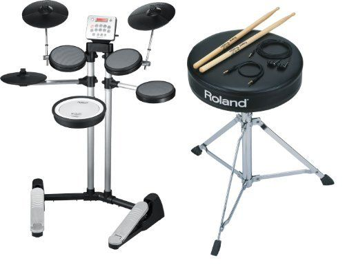 Roland HD-3 V-Drums Lite Electronic Drum Kit Set with DAP-1 Accessory Pack by Roland. $899.00. Pack includes: HD-3 V-Drums Roland's V-Drums are world famous for their incredible sound and expressive performance. Today, the V-Drums family gets an exciting new addition with the HD-3 - a new-generation drum kit that expands the definition of drumming. This compact kit is powerful and expressive enough for pros yet fun and friendly enough for beginners, gamers, and hom...