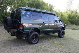 Ford E350 Van Made Into A 4x4 Camper Including An Awning