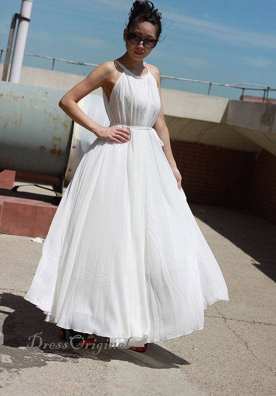 Plus size maxi dress white summer dress wedding dress for Plus size maxi dresses for summer wedding