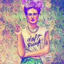 Frida kahlo wears daft punk i love fabian ciraolo