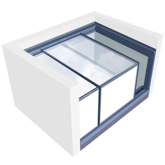 The three-wall box skylight brings the costs down by integrating the skylight with the walls of your building. Less glass, lower costs. There's no compromise on quality or usability though; you've got the same easy-access flexibility as the free-s