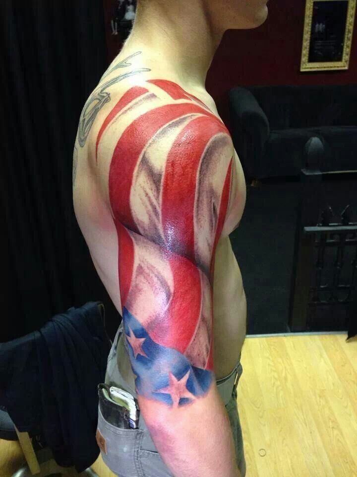 Patriotic Tattoo American Flag