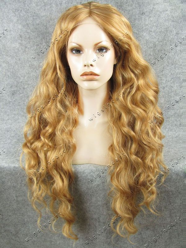 Find More Synthetic Wigs Information about 2015 New arrival Blonde Long Jerry Curl Synthetic lace front Wig 26 inch Free shipping emo wigs cheap wig for sale,High Quality wig supplies,China wig beyonce Suppliers, Cheap wig needle from  T-SEVEN  on Aliexpress.com