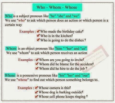 Who whom whose