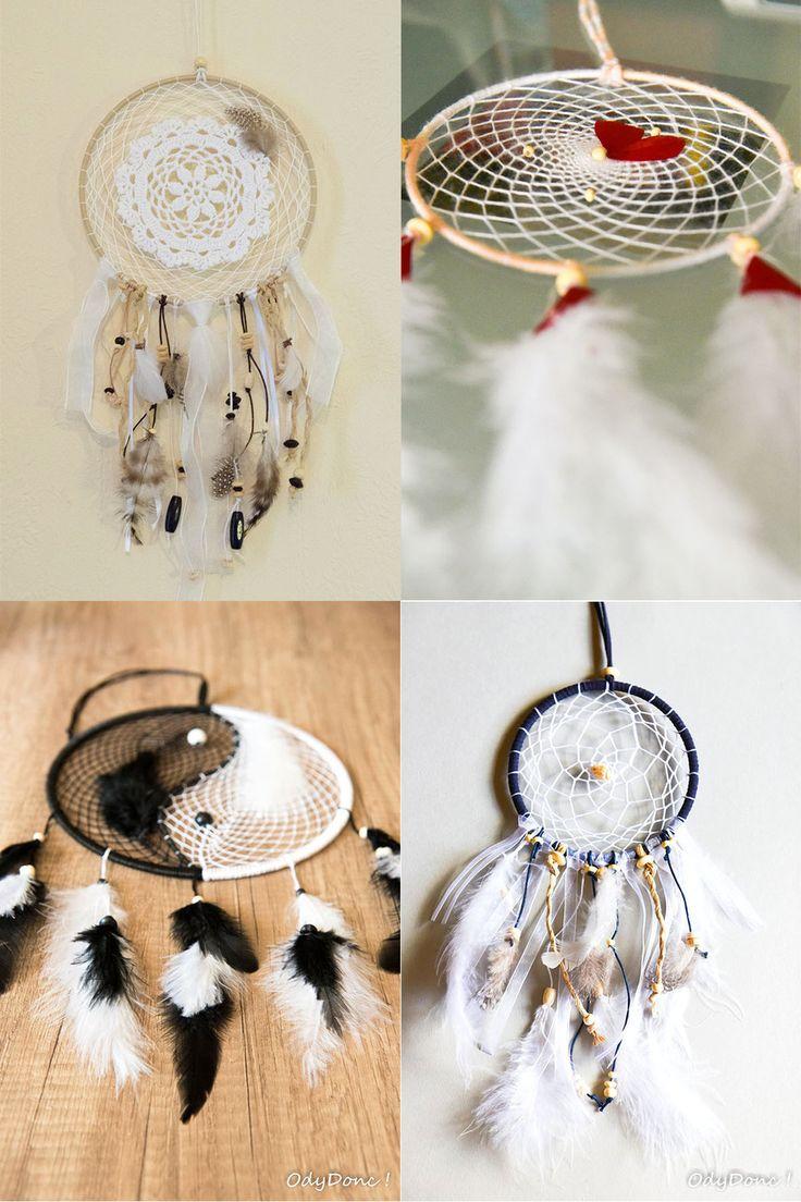 Attrape Rêve Dreamcatcher Fait Main Personnalisable **TAILLE et COULEURS** 1 Cercle 15 cm : Accessoires de maison par odydonc