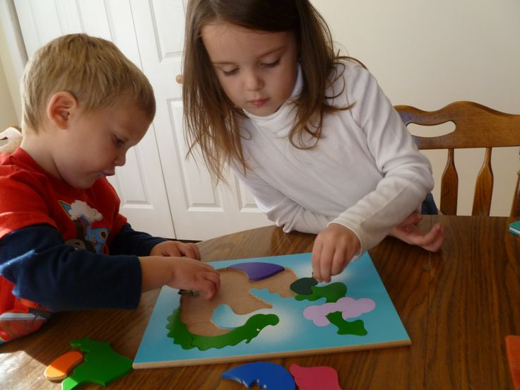 Children Playing with Puzzles Puzzles Pinterest