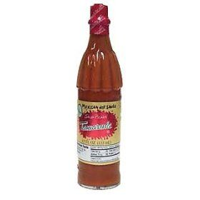 El Yucateco Chipotle really hot sauce. Try it for a spicy meal.