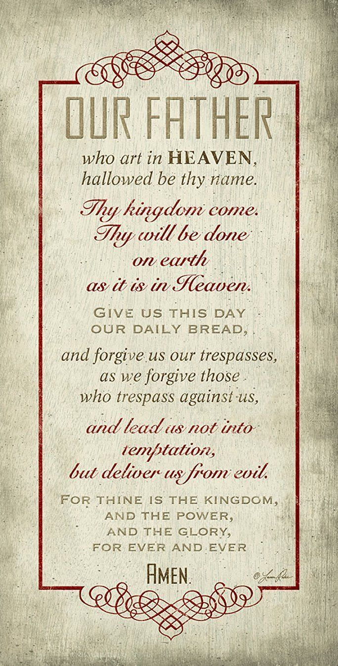 "The Lords Prayer Inspirational 16""x 8"" Wood Plaque"