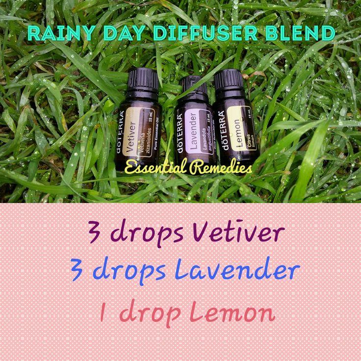 Rainy day diffuser blend.   #doterraessentialoils #dōterra #diffuser #rainyday #essentialoils   www.mydoterra.com/essentialRemedies2