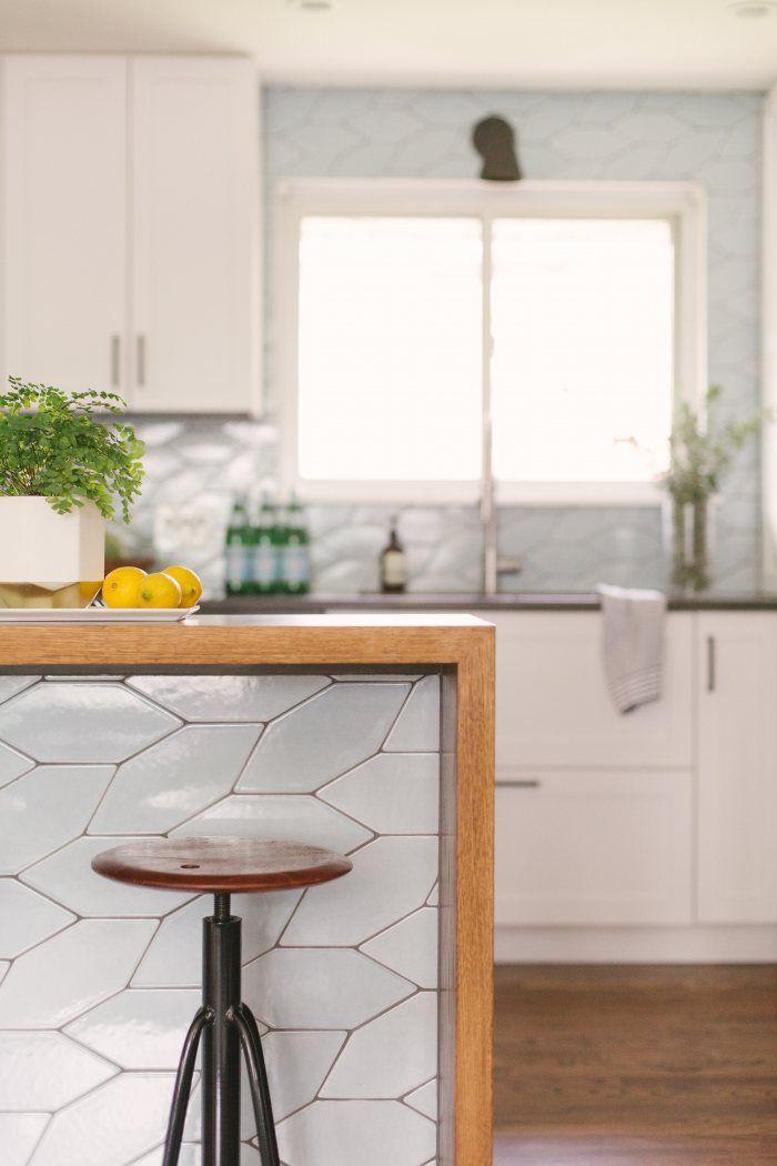Braided Picket Backsplash + Island Tile | Installation ...