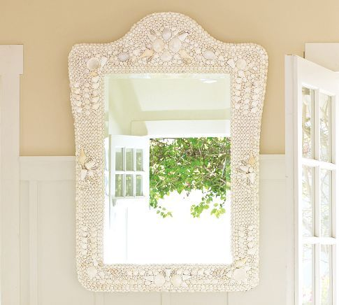 SHELL MIRROR--NOT AS GORGEOUS AS MY CYNTHIA CAREY MIRROR, BUT VERY PRETTYPotterybarn, Seashells Mirrors, Beautiful Seashells, Sea Shells, Dreams Seashells, Beach Houses, Decor Mirrors, Pottery Barns, Barns Mirrors