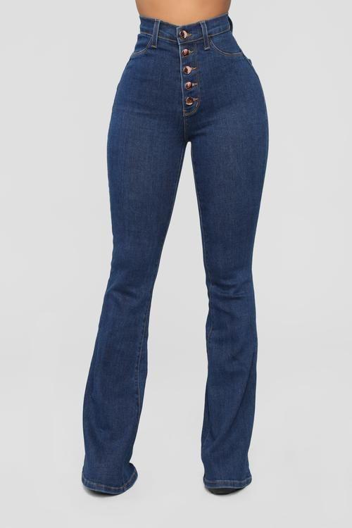 83f25e4445877e Don't Push Me Flare Jeans - Dark Denim | Body inspo in 2019 | Jeans ...