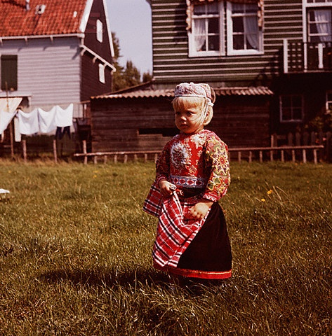 12-11-11  Girl in Dutch Costume  A Dutch girl in traditional dress on the island of Marken. 1950-80