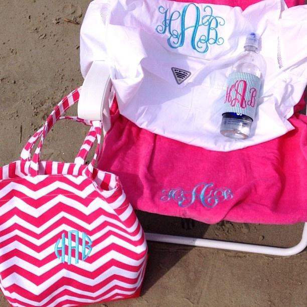 Sweet Tea Monograms at the beach