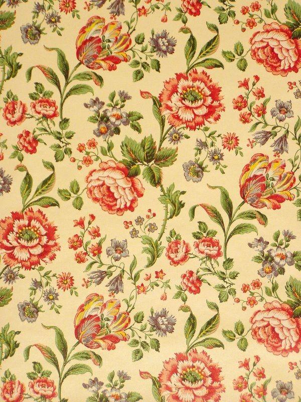 retro floral pattern wallpaper - photo #15