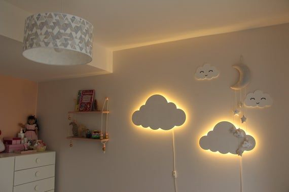 Cloud Night Light Wood Kids Lamp Baby Room Led Lamp Nursery Light Childrens Bedside Lamp Lighting Wall Decor Baby Shower Gift For Kids Kids Lamps Childrens Bedside Lamp Baby Room Decor