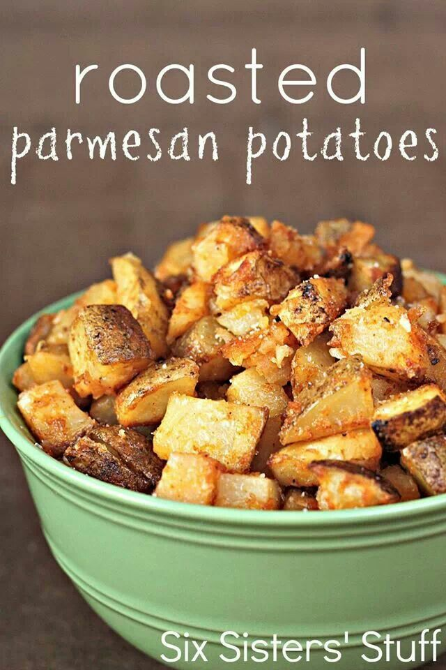 Roasted Parmesan potatoes.
