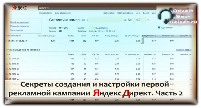 Секреты создания и настройки первой рекламной кампании Яндекс Директ. Часть 2  Read more: http://advertseo-helper.ru/praktika_yadirekt/sekrety-sozdaniya-i-nastrojjki-pervojj-reklamnojj-kampanii-yandeks-direkt-chast-2.html#ixzz2xORwLitI