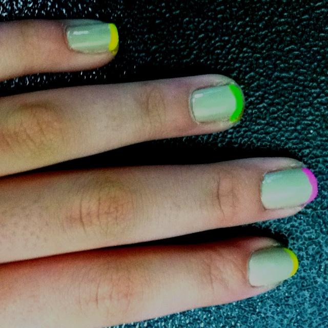 Emma's nails! Got the idea on here! Nails, Beauty, Emma