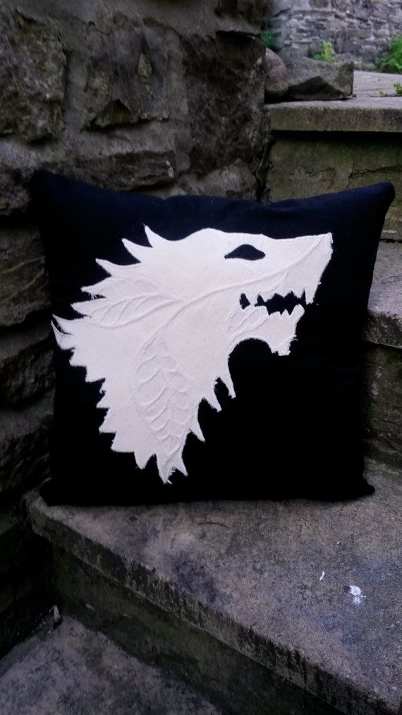 Game of Thrones Stark Cushion Pillow HBO 18x18 by ByeBrytshi