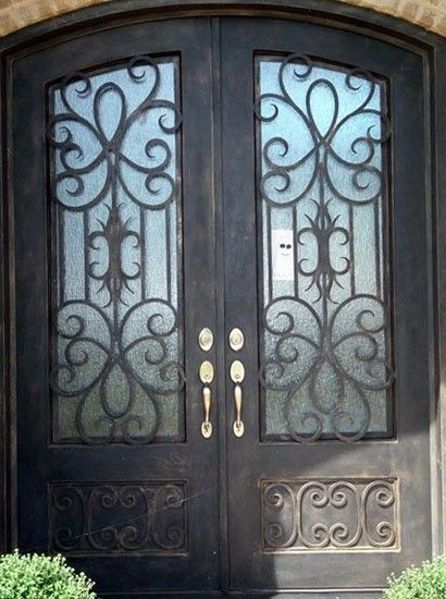 17 best images about wrought iron balconies gates for Wrought iron front doors