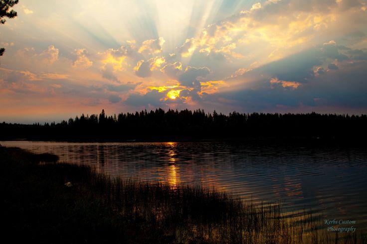 Sunrise over Penland Lake in eastern Oregon-Aug 2013