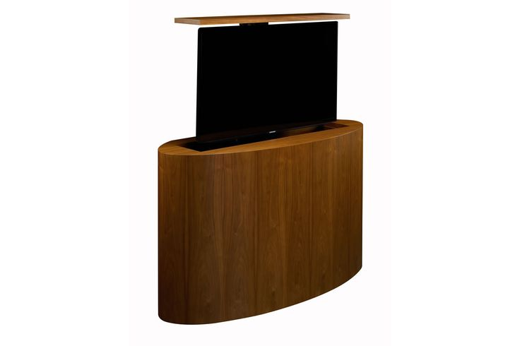 Rounded Pop Up Tv Lift Cabinet For End Of The Bed Lr