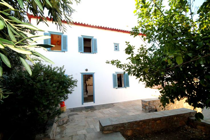Property for sale in 4 Corners, Hydra, Greece. A classic Hydriot house with wonderful views across the inland valley close to 4 corners.
