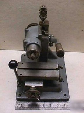 Horizontal watchmakers milling machine.