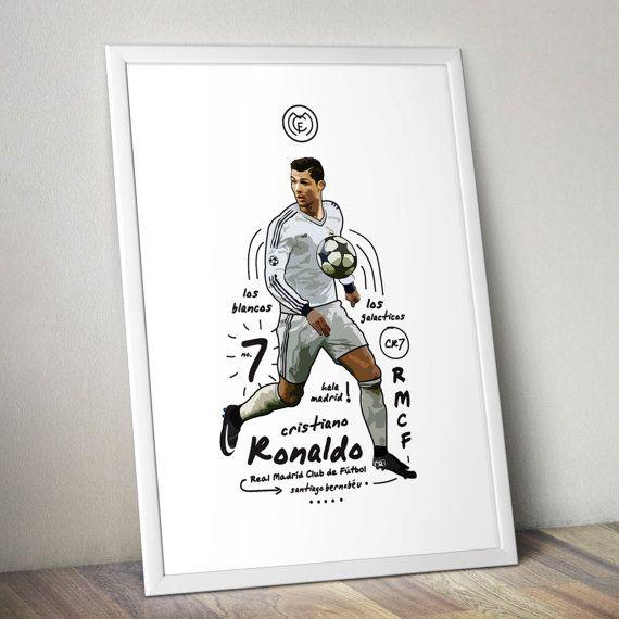 Cristiano Ronaldo  Real Madrid Print by KieranCarrollDesign
