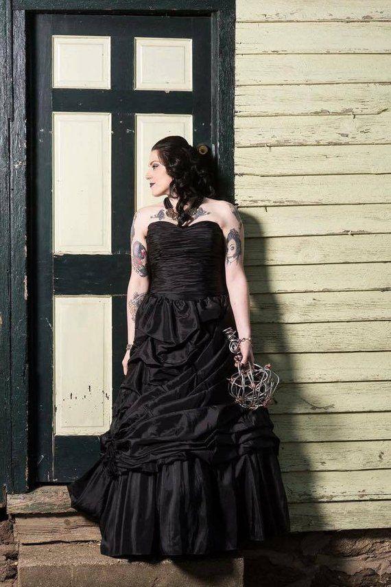 028514964f3 Black Wedding Dress